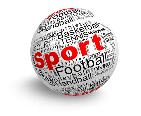 Sport words ball Stock Photo - 12833078
