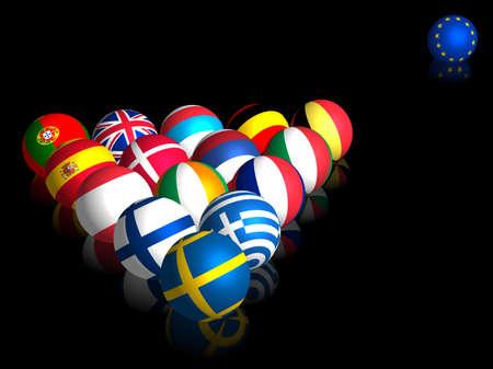 billiards tables: European Balls