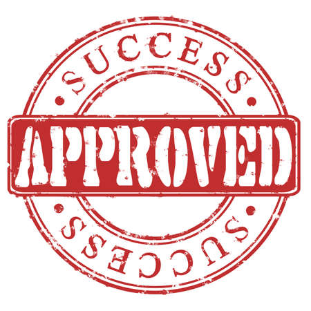 Stamp Approved success  red Stock Photo - 17751290