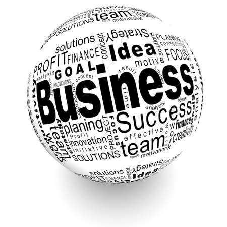 Business oriented words on the ball Stock Photo
