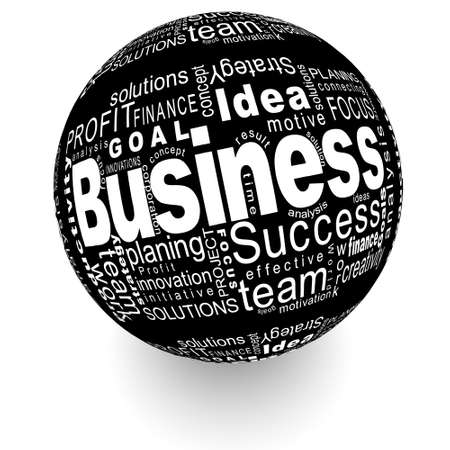 Business oriented words on the ball Stock Photo - 18008020