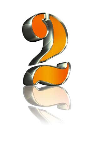 3d golden sign 2