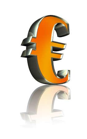 3d golden sign  Euro