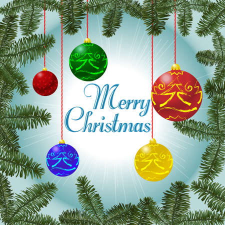 Christmas decorations on the background Stock Photo