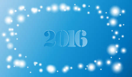 2016 year on radiant background Stock Photo
