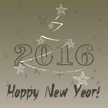 2016 year on radiant background Stock Photo