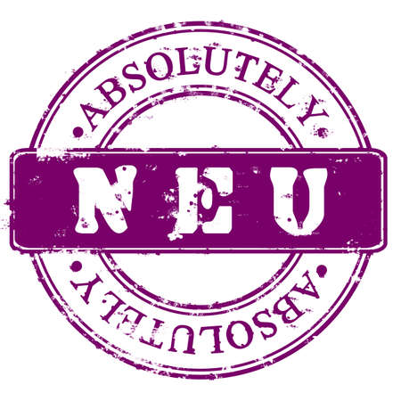 endorsed: Round violet Stamp Absolutely New in German Stock Photo