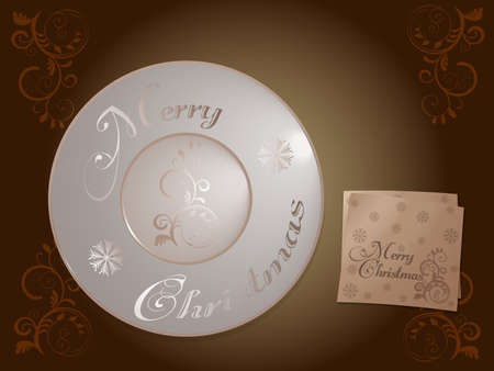 Vintage Holiday Merry Christmas plate