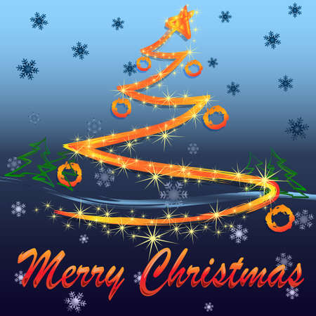 Christmas abstract glow Christmas tree