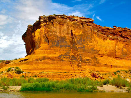 Beautiful View of Colorado Canyons from the Colorado River