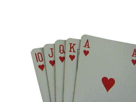 royal flush: royal flush in poker Stock Photo