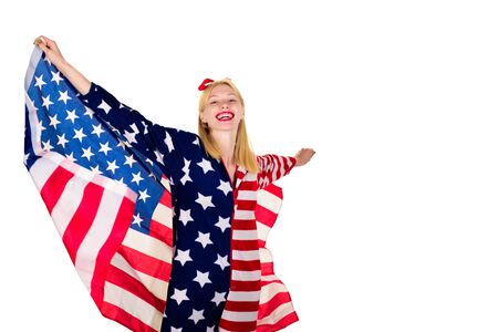 Woman with american flag. Independence Day. Make america great again! American flag. America. United states. USA. United states of America. US.