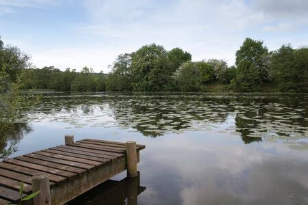 Small Jetty on the Lake at Witley Court (Landscape) Stock Photo - 5136713