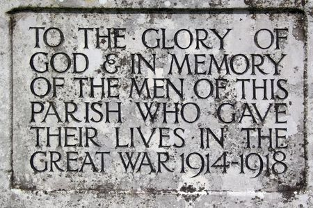First World War memorial to the lost men of the parish of Feckenham in Worcestershire, UK