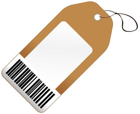 バーコード付きの価格タグ  イラスト・ベクター素材