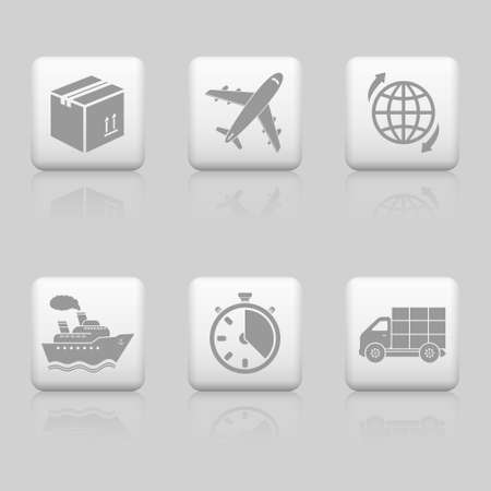 Logistic web buttons Illustration