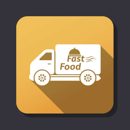 eating fast food: Fast food delivery icon Illustration