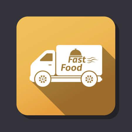 voedingsmiddelen: Fast food levering icoon