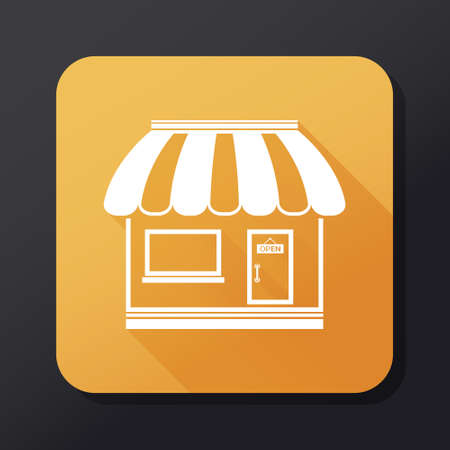 Shop icon - flat design Illustration