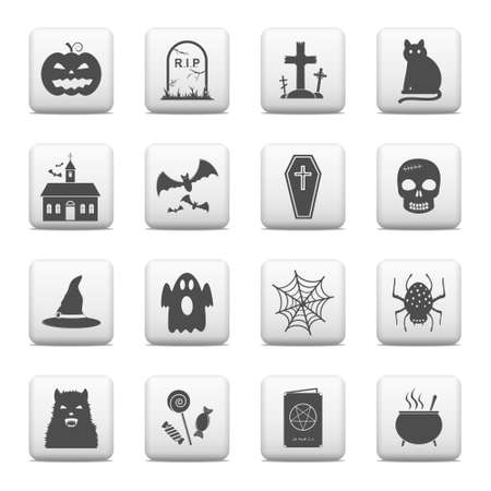 Web buttons, Halloween icons