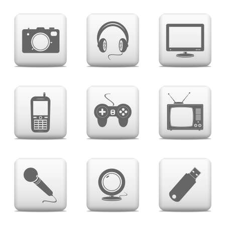 Electronic devices button set