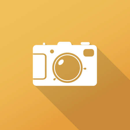 Camera flat icon  Long shadow design