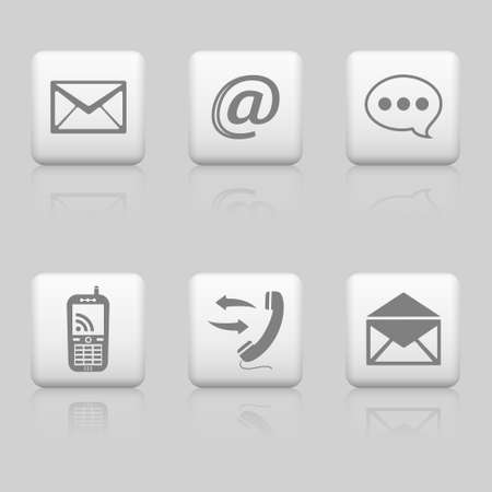 Web buttons, contact icons