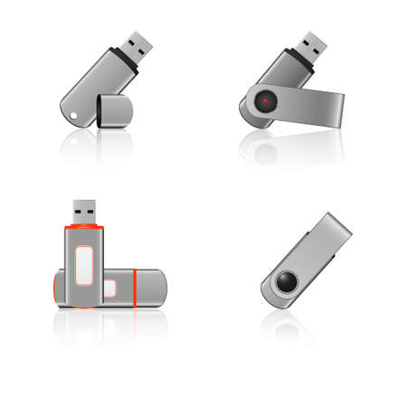 usb flash drive icons Illustration