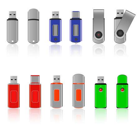 pen drive: Set of USB pen drive memory