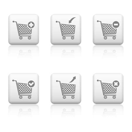 Web buttons - shopping cart  Illustration