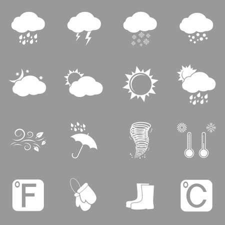 climatology: weather icons