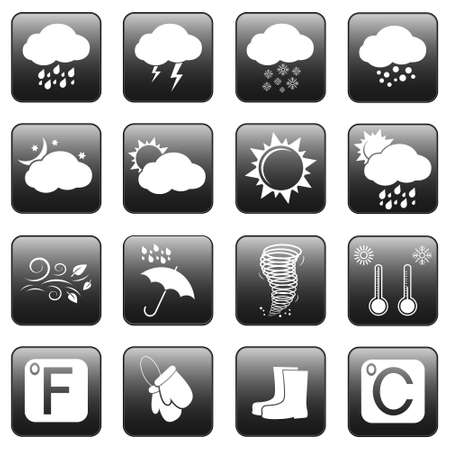 Eco icons, web buttons Vector