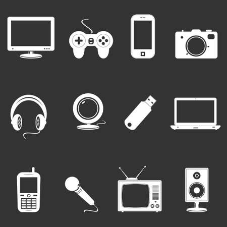 Technology icons Illustration