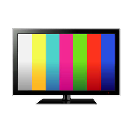 TV flat screen lcd, plasma realistic illustration