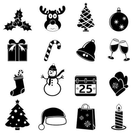 shopping champagne: Christmas icons