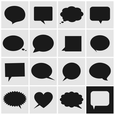 Speech bubbles icons Vector