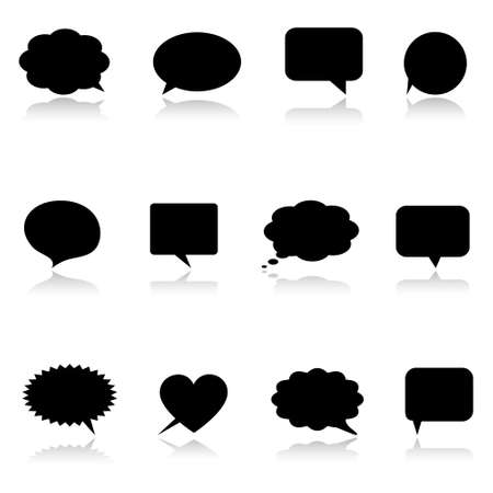 Black speech bubbles Vector
