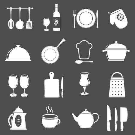 chopping board: Kitchen utensil icons