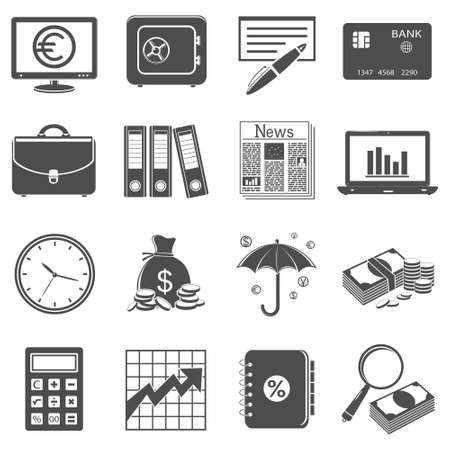 Finance and business icons Stock Vector - 26330200