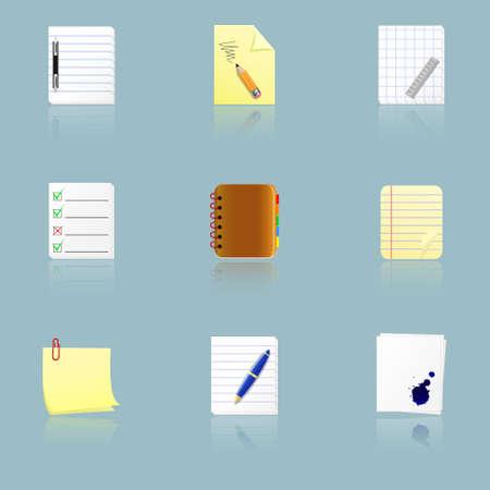 iconos de los documentos Vectores