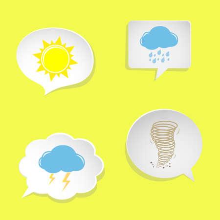 weather symbols: speech bubbles with weather symbols Illustration