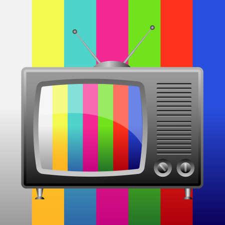 Retro tv, test pattern  Vector