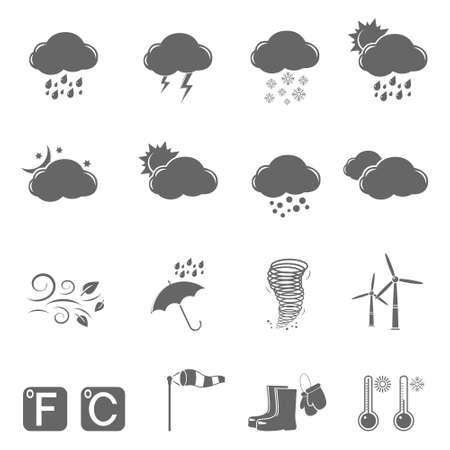 climatology: Weather icons Illustration