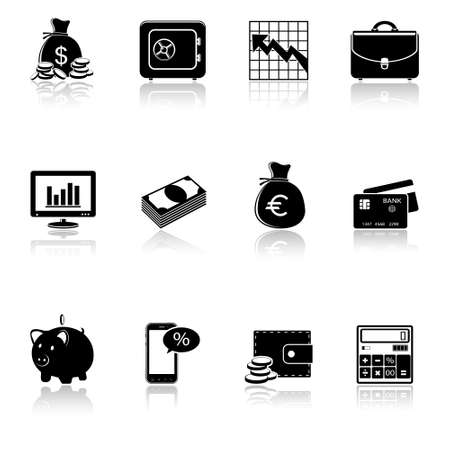 Finance   banking icons set  Vector