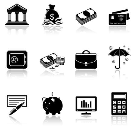 Banking icons Stock Vector - 26330159