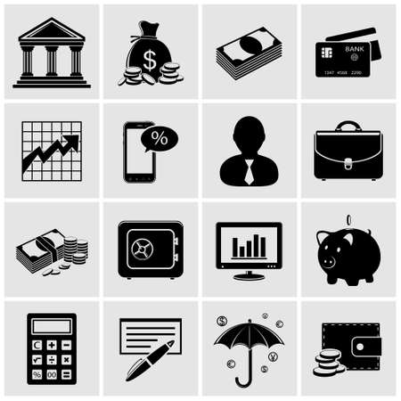 Finance and banking icons Stock Vector - 26330098