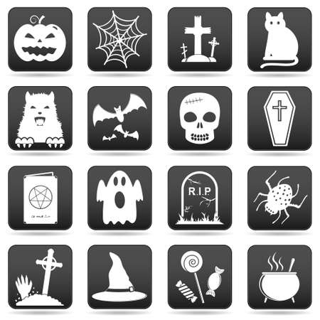 Halloween Icons Set Illustration