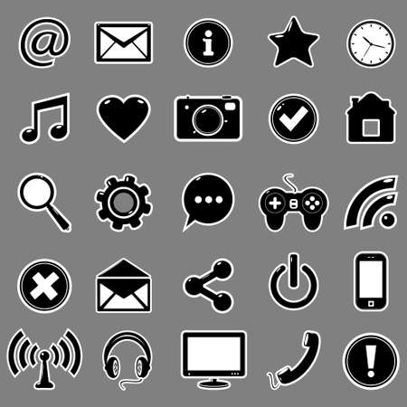 Vector Web icons set Vector