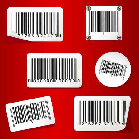 Barcodes blank set 向量圖像