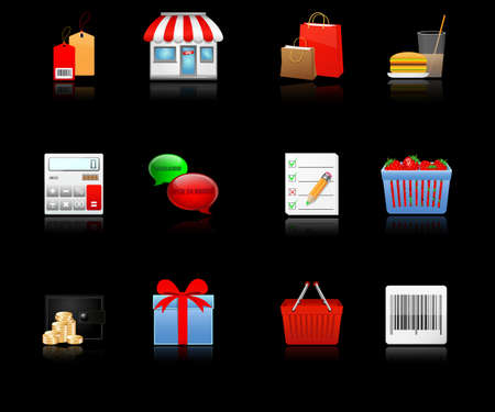 Shopping icons  Vector Vector